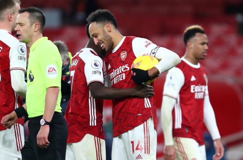 Arsenal's Gabonese striker Pierre-Emerick Aubameyang (Photo by JULIAN FINNEY/POOL/AFP via Getty Images)