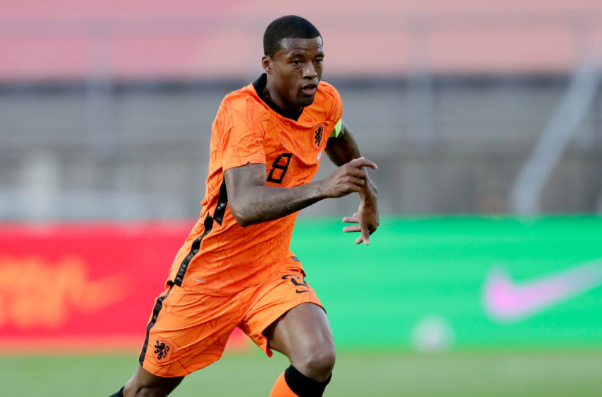 ALMANCIL, PORTUGAL - JUNE 2: Georginio Wijnaldum of Holland during the International Friendly match between Holland v Scotland at the Estadio Algarve on June 2, 2021 in Almancil Portugal (Photo by Eric Verhoeven/Soccrates/Getty Images)