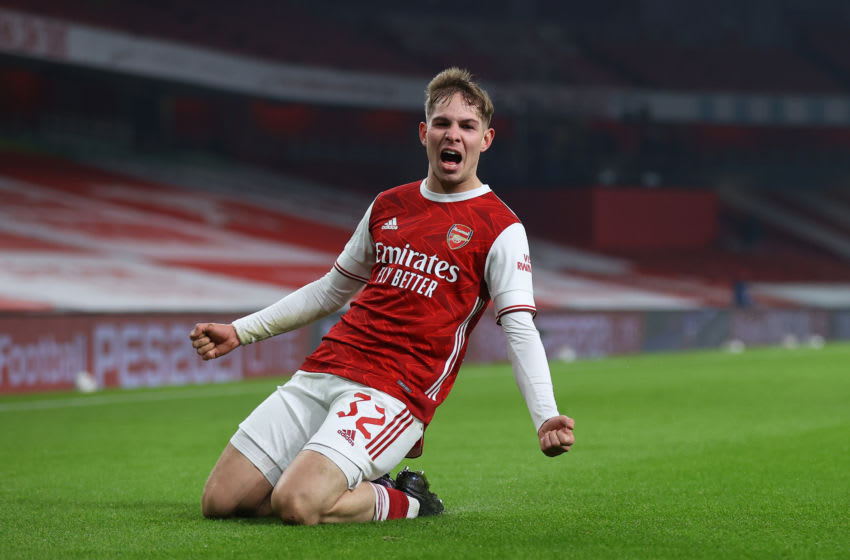 Emile Smith Rowe of Arsenal (Photo by Julian Finney/Getty Images)