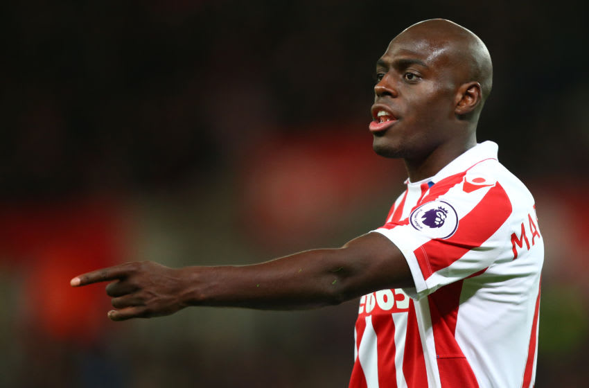 STOKE ON TRENT, ENGLAND - NOVEMBER 19: Bruno Martins Indi of Stoke City during the Premier League match between Stoke City and AFC Bournemouth at Bet365 Stadium on November 19, 2016 in Stoke on Trent, England. (Photo by Dave Thompson/Getty Images)