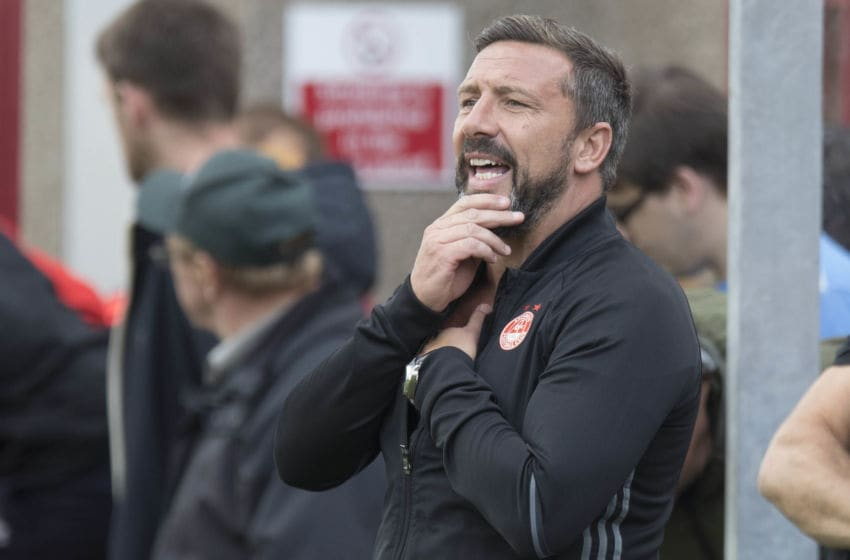 BRECHIN, SCOTLAND - JULY 23: Derek McInnes Manager of Aberdeen during the Brechin City v Aberdeen - Pre Season Friendly, at Glebe Park on July 23, 2017 in Brechin, Scotland. (Photo by Steve Welsh/Getty Images)
