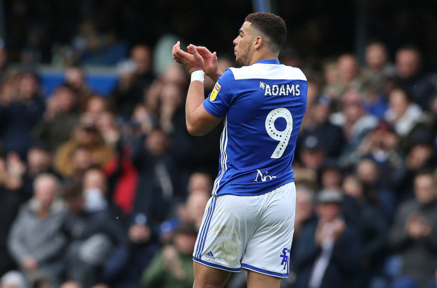 Birmingham City's Che Adams applauds the fans during the Sky Bet Championship match at St Andrew's Trillion Trophy Stadium Birmingham City v Wigan Athletic - Sky Bet Championship - St Andrew's Trillion Trophy Stadium 27-04-2019 . (Photo by Barrington Coombs/EMPICS/PA Images via Getty Images)