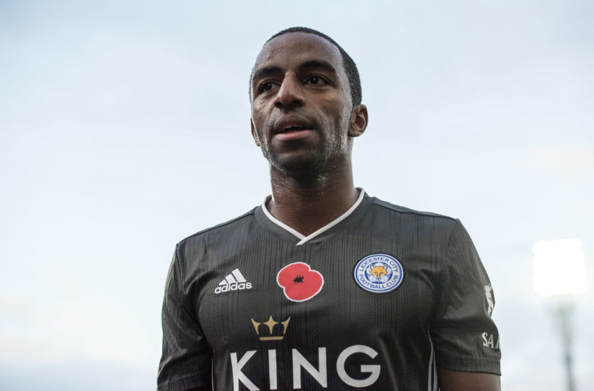 LONDON, ENGLAND - NOVEMBER 03: Ricardo Pereira of Leicester City looks on during the Premier League match between Crystal Palace and Leicester City at Selhurst Park on November 3, 2019 in London, United Kingdom. (Photo by Sebastian Frej/MB Media/Getty Images)