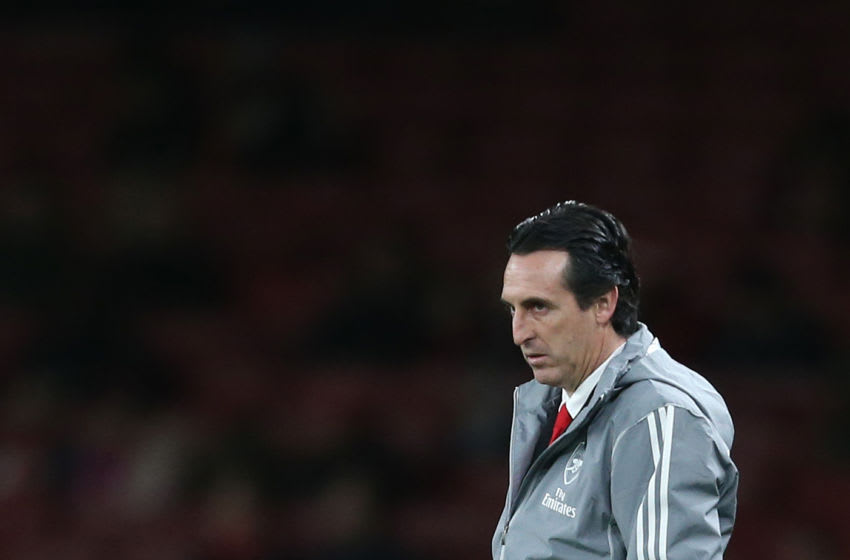 LONDON, ENGLAND - NOVEMBER 28: Arsenal manager Unai Emery during the UEFA Europa League group F match between Arsenal FC and Eintracht Frankfurt at Emirates Stadium on November 28, 2019 in London, United Kingdom. (Photo by Rob Newell - CameraSport via Getty Images)