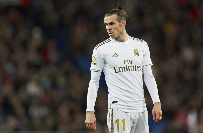 MADRID, SPAIN - DECEMBER 22: Gareth Bale of Real Madrid looks on during the Liga match between Real Madrid CF and Athletic Club at Estadio Santiago Bernabeu on December 22, 2019 in Madrid, Spain. (Photo by Quality Sport Images/Getty Images)
