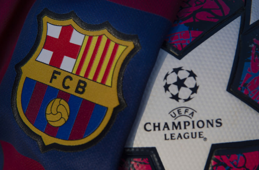 Barcelona Club crest. (Photo by VISIONHAUS)