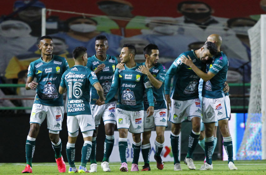 León sits on top of the Liga MX table with three games remaining in the Guardianes 2020 season. (Photo by Leopoldo Smith/Getty Images)