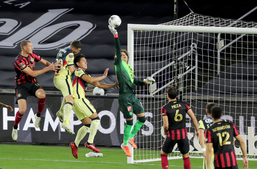 América goalie Guillermo Ochoa was the Man of the Match as the Aguilas survived their quarterfinal match-up against Atlanta United. (Photo by Alex Menendez/Getty Images)