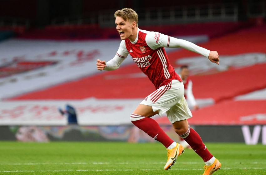 Arsenal's Norwegian midfielder Martin Odegaard (Photo by DAN MULLAN/POOL/AFP via Getty Images)