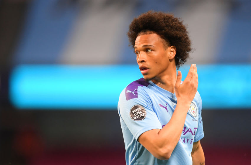 Leroy Sane of Manchester City. (Photo by Michael Regan/Getty Images)