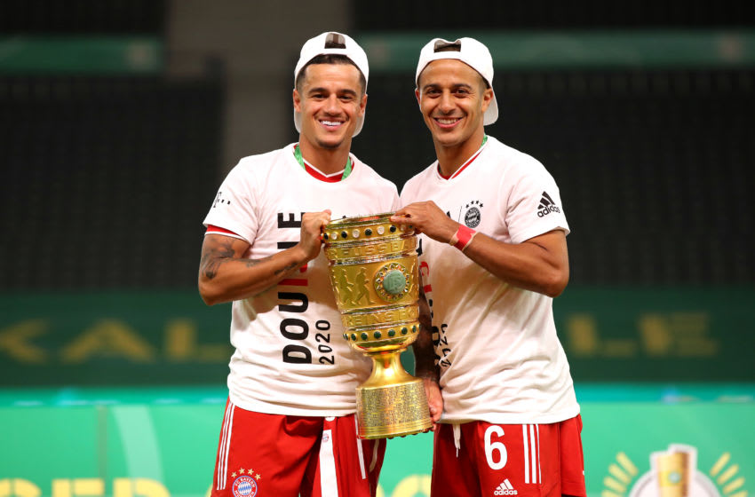 Philippe Coutinho and Thiago Alcantara, Bayern Munich (Photo by Alexander Hassenstein/Getty Images)