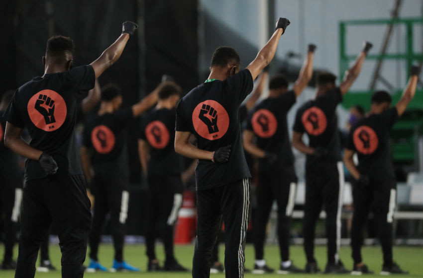 Black Players for Change, MLS (Photo by Mike Ehrmann/Getty Images)