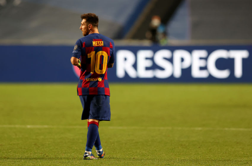 Lionel Messi of FC Barcelona. (Photo by Rafael Marchante/Pool via Getty Images)