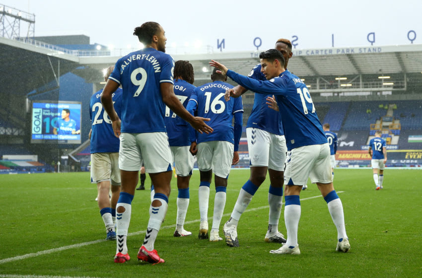 Everton's lethal attack have led them to the top of the Premier League table after a perfect start through four matches. (Photo by Jan Kruger/Getty Images)