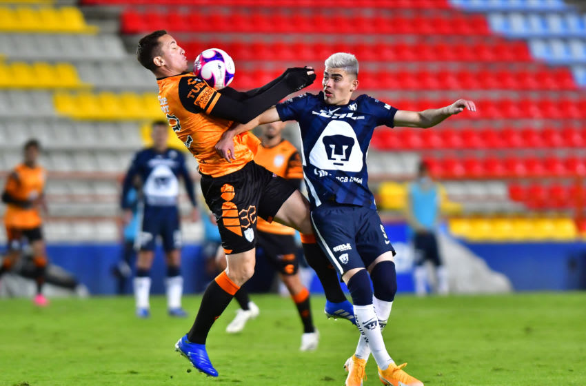 Ninth-seed Pachuca hosts the No. 2 seeded Pumas in the second game of a Thursday night Liga MX playoff double-header. (Photo by Jaime Lopez/Jam Media/Getty Images)