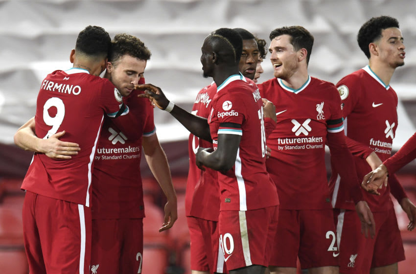 Liverpool dismantled Leicester City in a strong showing on Sunday at Anfield, taking away three points in a 3-0 victory that takes them to the top of the Premier League table. (Photo by Peter Powell - Pool/Getty Images)