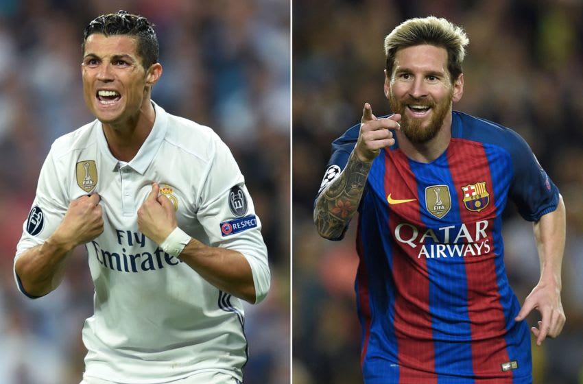 Ronaldo and Messi meet again! (Photo credit should read LLUIS GENE/AFP via Getty Images)