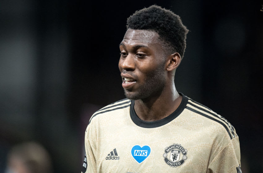 Timothy Fosu-Mensah, Manchester United (Photo by Sebastian Frej/MB Media/Getty Images )