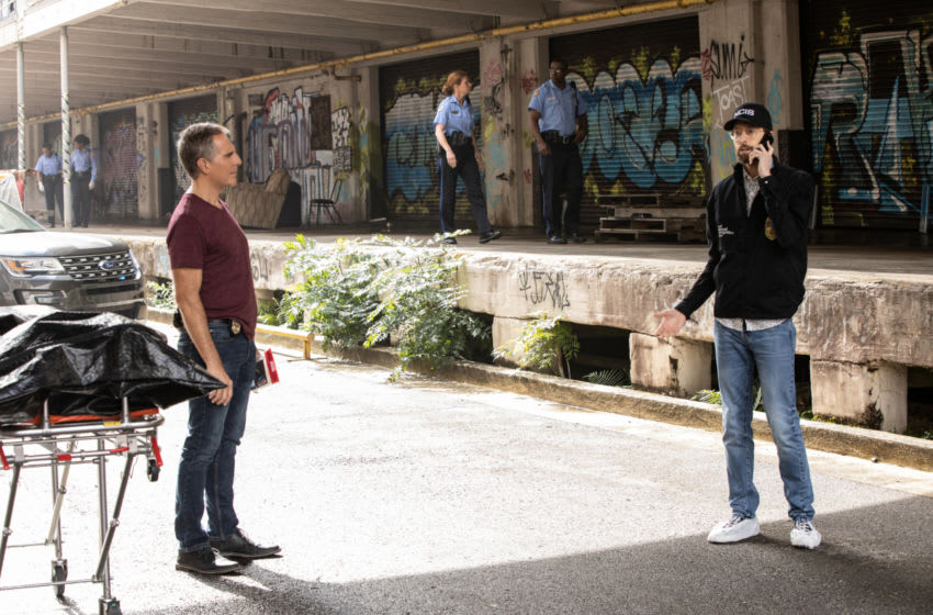 ÒA Changed WomanÓ Ð When a Navy sailor is found dead, the team tracks the suspicious movements of people in his life prior to his death. Also, Hannah comes to terms with her daughterÕs relationship with her exÕs new girlfriend, Veronica (Katie Rose Clark), on NCIS: NEW ORLEANS, Sunday, March 29 (10:00-11:00 PM, ET/PT) on the CBS Television Network.Pictured L-R: Scott Bakula as Special Agent Dwayne Pride and Rob Kerkovich as Forensic Scientist Sebastian Lund Photo: Sam Lothridge/CBS ©2020 CBS Broadcasting, Inc. All Rights Reserved.