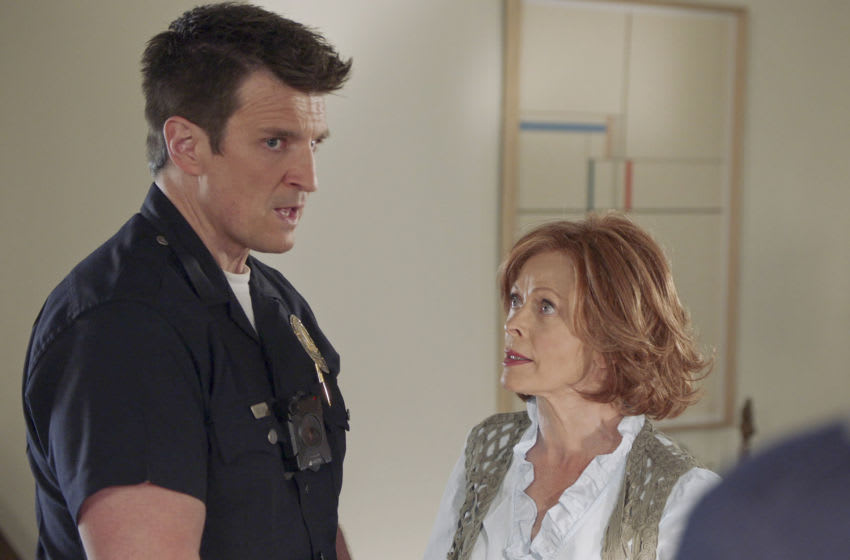 THE ROOKIE - ÒLa FieraÓ Ð Officer John NolanÕs mom makes an unannounced visit that complicates his life, and Sergeant Grey considers retiring on ÒThe Rookie,Ó SUNDAY, JAN. 17 (10:00-11:00 p.m. EST), on ABC. (ABC) NATHAN FILLION, FRANCES FISHER