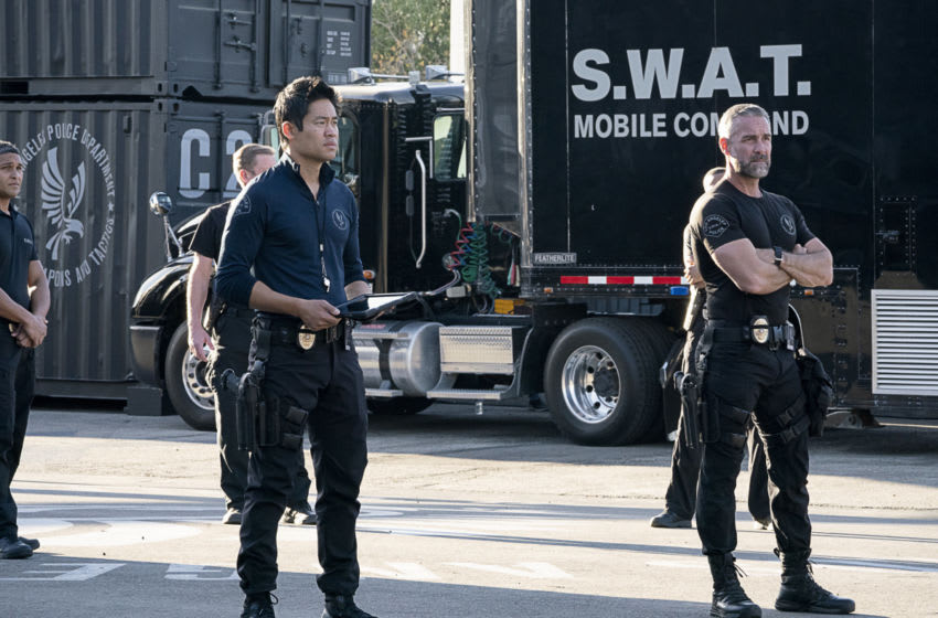 ÒNext of KinÓ Ð A tragic mission leads each member of the SWAT team to contend with their emotional distress in varied ways, on S.W.A.T., Wednesday, Feb. 17 (10:00-11:00 PM, ET/PT) on the CBS Television Network. Pictured (L-R): David Lim as Victor Tan and Jay Harrington as David ÒDeaconÓ Kay. Photo: Bill Inoshita/CBS ©2020 CBS Broadcasting, Inc. All Rights Reserved.