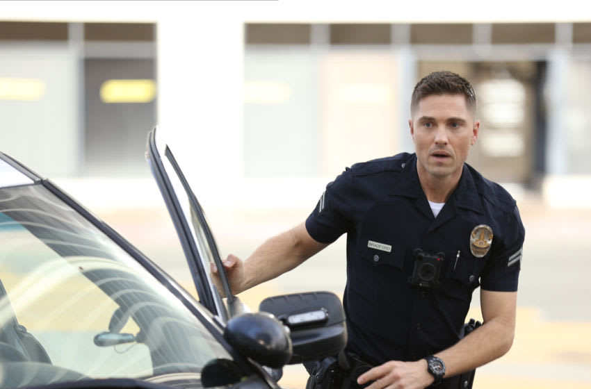 """THE ROOKIE - """"Bad Blood"""" – Officer Nolan, Officer Harper and Detective Lopez are assigned to the kidnapping of the son of a criminal court judge who has a long list of enemies who could possibly be involved on """"The Rookie,"""" SUNDAY, MARCH 28 (10:00-11:00 p.m. EDT), on ABC. (ABC/Raymond Liu) ERIC WINTER"""