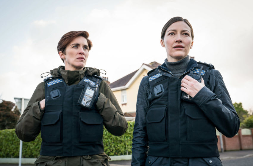 WARNING: Embargoed for publication until 00:00:01 on 16/03/2021 - Programme Name: Line of Duty S6 - TX: n/a - Episode: Line Of Duty - Ep 1 (No. n/a) - Picture Shows: *NOT FOR PUBLICATION UNTIL 00:01HRS, TUESDAY 16TH MARCH, 2021* DI Kate Fleming (VICKY MCCLURE), DCI Joanne Davidson (KELLY MACDONALD) - (C) World Productions - Photographer: Steffan Hill