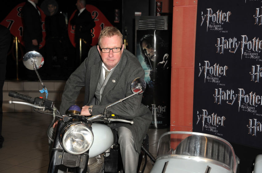 TOURS, FRANCE - NOVEMBER 22: Actor Mark Williams poses as he attends 'Harry Potter And The Deathly Hallows: Part 1' French Premiere at Mega CGR 2 Lions on November 22, 2010 in Tours, France. (Photo by Dominique Charriau/Getty Images)