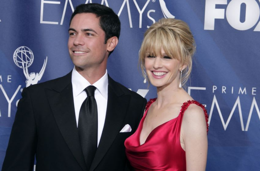 LOS ANGELES, CA - SEPTEMBER 16: Actors Danny Pino and Kathryn Morris pose in the pressroom during the 59th Annual Primetime Emmy Awards at the Shrine Auditorium on September 16, 2007 in Los Angeles, California. (Photo by Kevin Winter/Getty Images)
