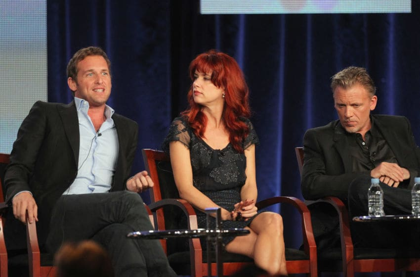 PASADENA, CA - JANUARY 06: Actor Josh Lucas, Actress Juliette Lewis and Actor Callum Keith Rennie speak onstage during