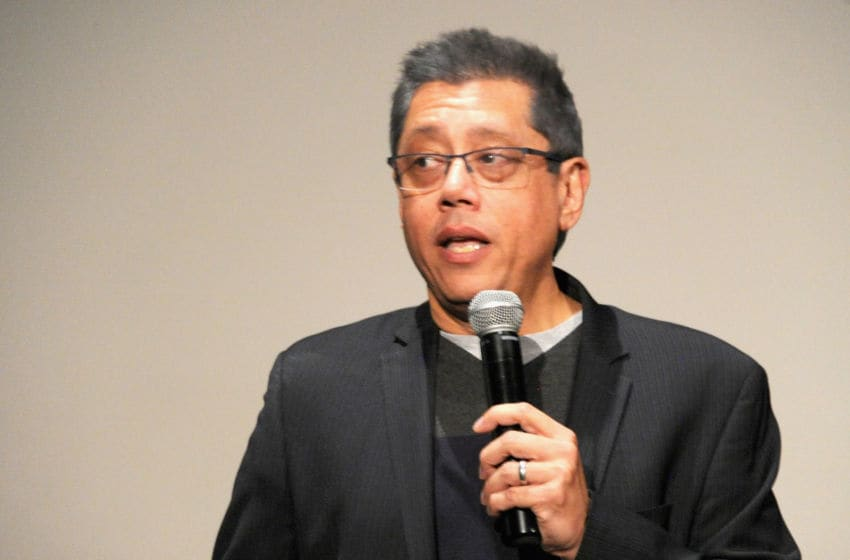 HOLLYWOOD, CA - APRIL 24: Director Dean Devlin introduces the Screening Of Electric Entertainment's