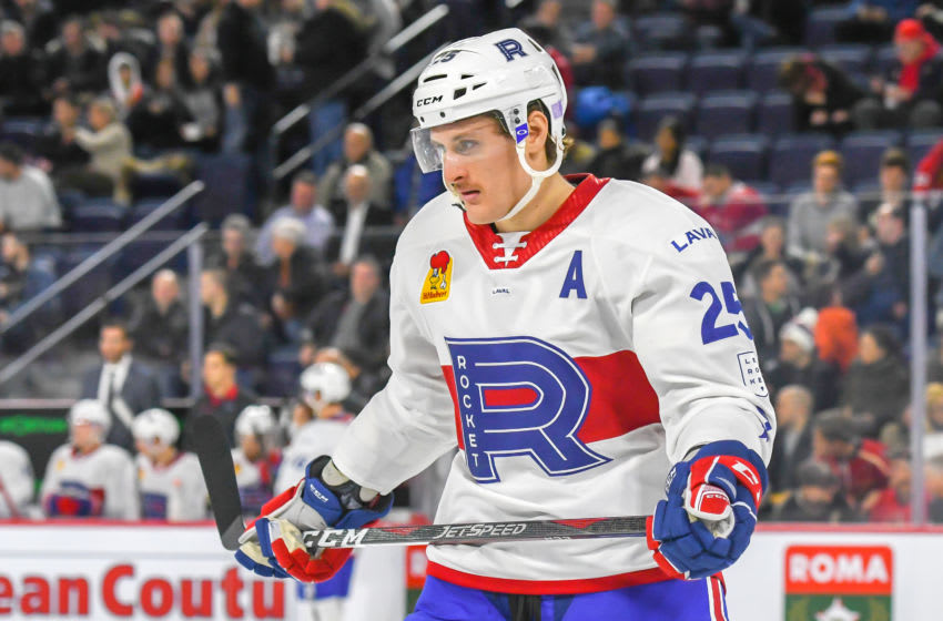 Michael McCarron #25 of the Laval Rocket (Photo by Stephane Dube /Getty Images)