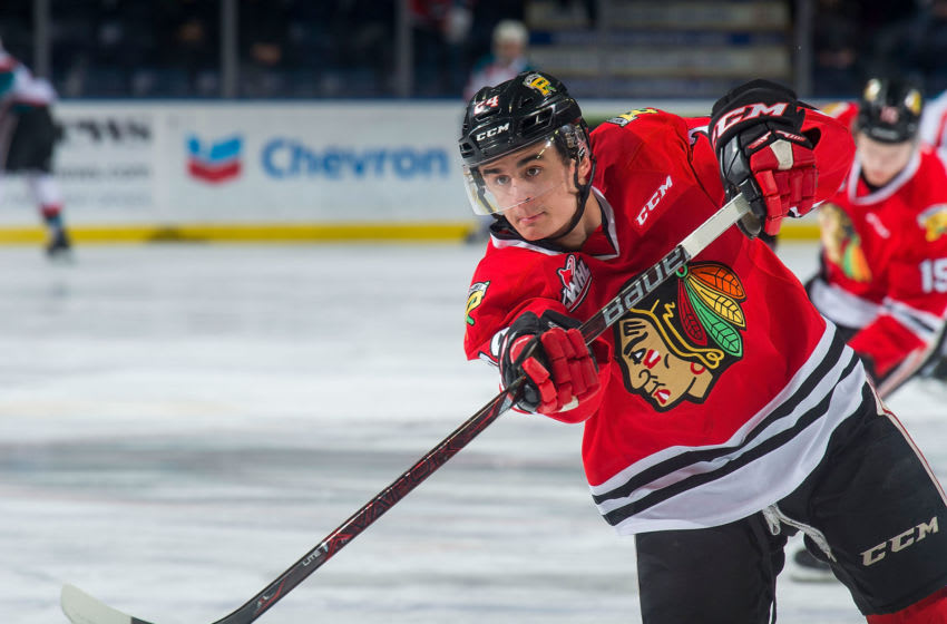 KELOWNA, BC - MARCH 02: Seth Jarvis #24 of the Portland Winterhawks (Photo by Marissa Baecker/Getty Images)