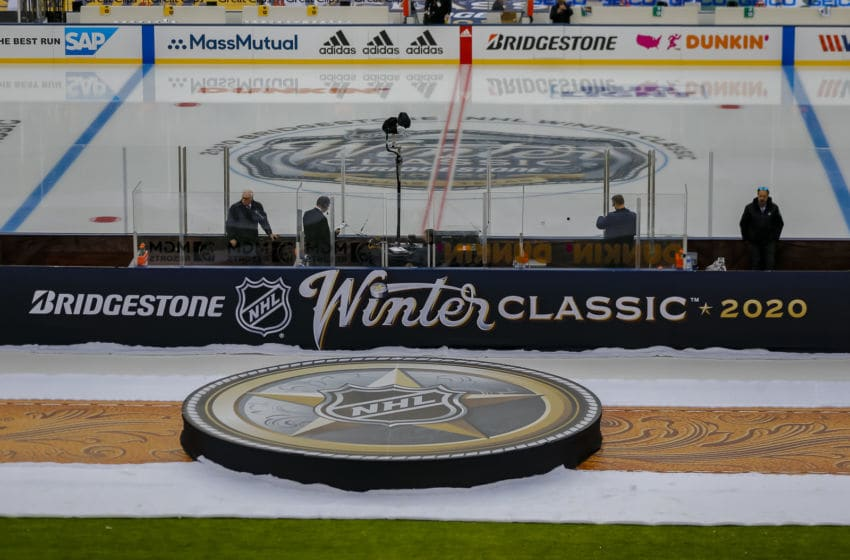 DALLAS, TX - JANUARY 01: The Bridgestone Winter Classic logo before the game between the Dallas Stars and the Nashville Predators on January 1, 2020 at the Cotton Bowl in Dallas, Texas. (Photo by Matthew Pearce/Icon Sportswire via Getty Images)