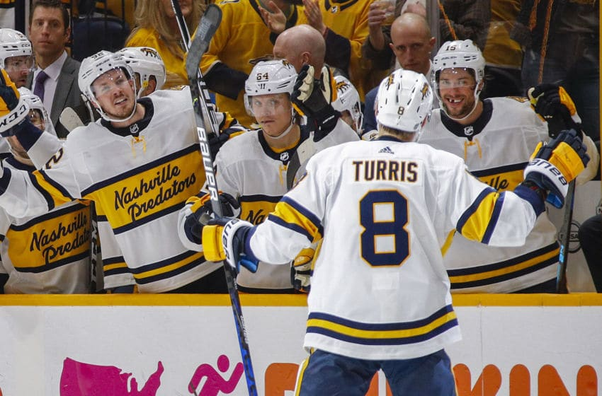 Kyle Turris #8 of the Nashville Predators (Photo by Frederick Breedon/Getty Images)
