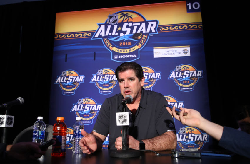 Coach Peter Laviolette of the Nashville Predators (Photo by Bruce Bennett/Getty Images)