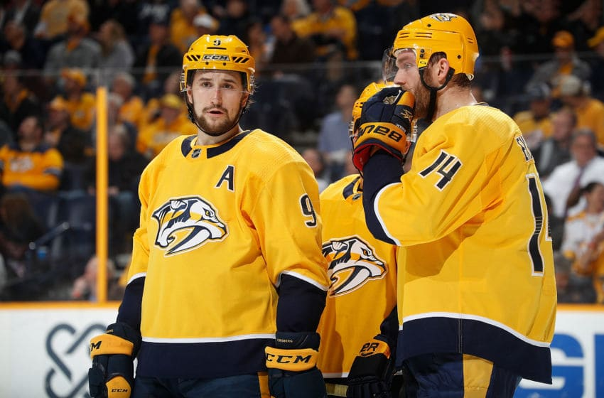 NASHVILLE, TN - FEBRUARY 13: Filip Forsberg