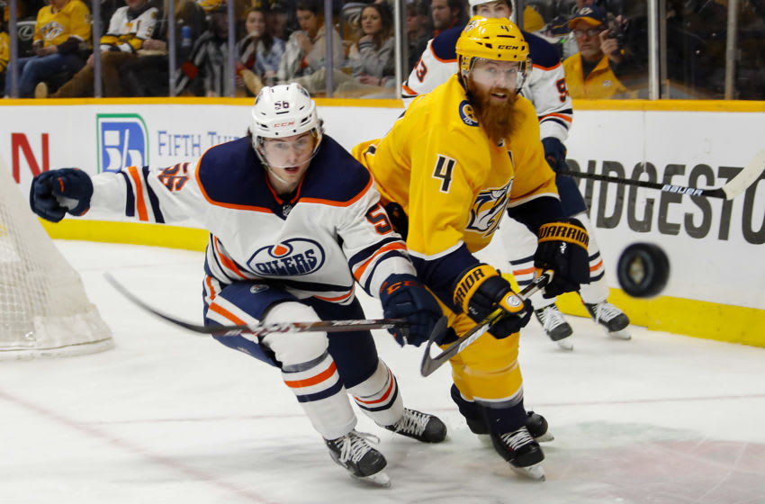 Ryan Ellis #4 of the Nashville Predators (Photo by Frederick Breedon/Getty Images)