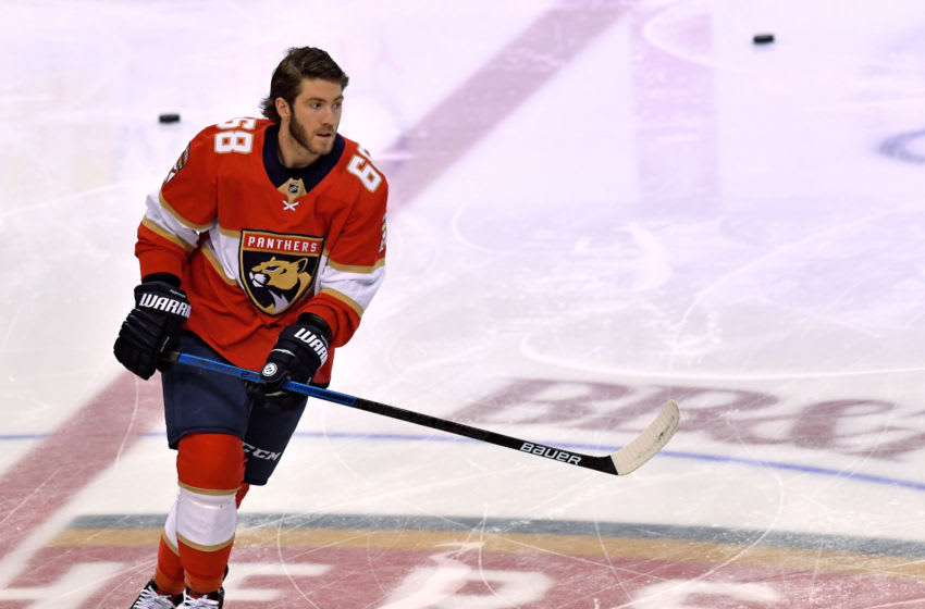 Florida Panthers left wing Mike Hoffman (68) Mandatory Credit: Steve Mitchell-USA TODAY Sports