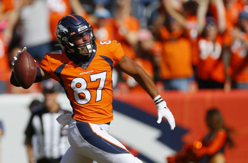 Noah Fant, Denver Broncos. (Photo by Justin Edmonds/Getty Images)