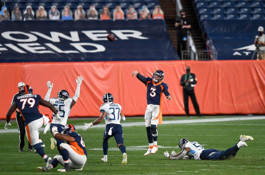 Drew Lock, Denver Broncos (Photo by Dustin Bradford/Getty Images)