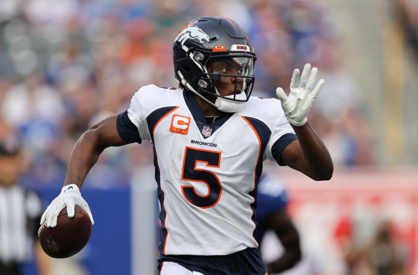 Denver Broncos quarterback Teddy Bridgewater. (Photo by Alex Trautwig/Getty Images)