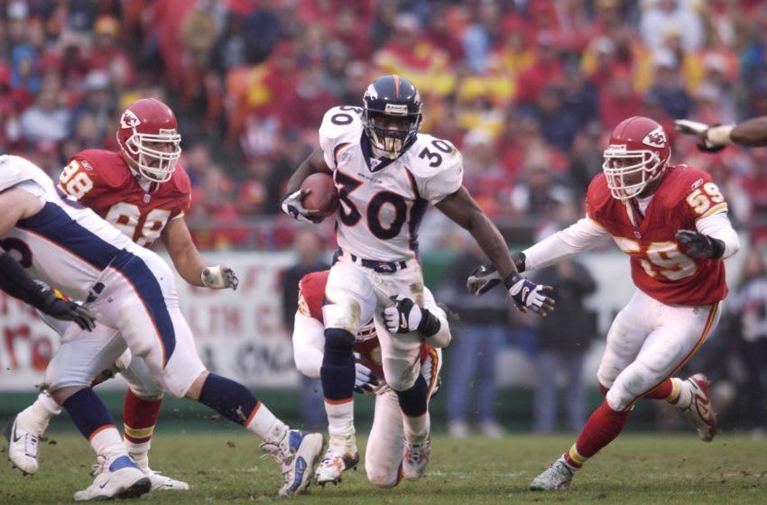 Terrell Davis #30 of the Denver Broncos. DIGITAL IMAGE. Mandatory Credit: Elsa/Allsport