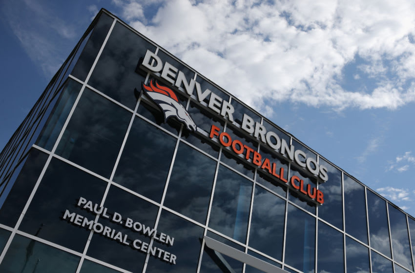 ENGLEWOOD, CO - AUGUST 05: A detail photo of the Paul D. Bowlen Memorial Broncos Center on August 5, 2014 in Englewood, Colorado. (Photo by Doug Pensinger/Getty Images)