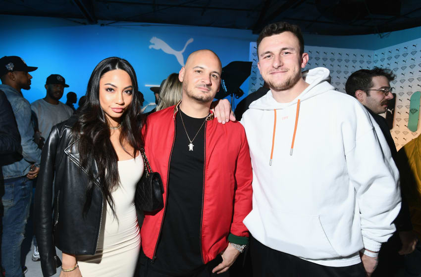 LOS ANGELES, CA - JANUARY 24: (L-R) Diana Tran, Nick Tershay and Johnny Manziel attend PUMA X Diamond Supply Launch Event on January 24, 2018 in Los Angeles, California. (Photo by Emma McIntyre/Getty Images for PUMA)