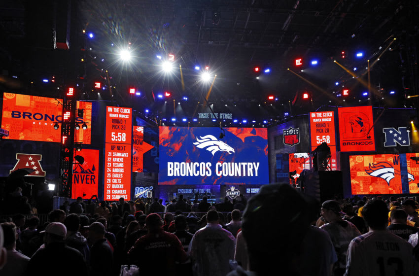 NASHVILLE, TN - APRIL 25: General view as the Denver Broncos wait to select during the first round of the NFL Draft on April 25, 2019 in Nashville, Tennessee. (Photo by Joe Robbins/Getty Images)