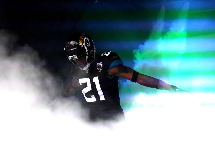LONDON, ENGLAND - NOVEMBER 03: A.J Bouye of Jacksonville Jaguars heads out the tunnel prior to the NFL game between Houston Texans and Jacksonville Jaguars at Wembley Stadium on November 03, 2019 in London, England. (Photo by Alex Davidson/Getty Images)