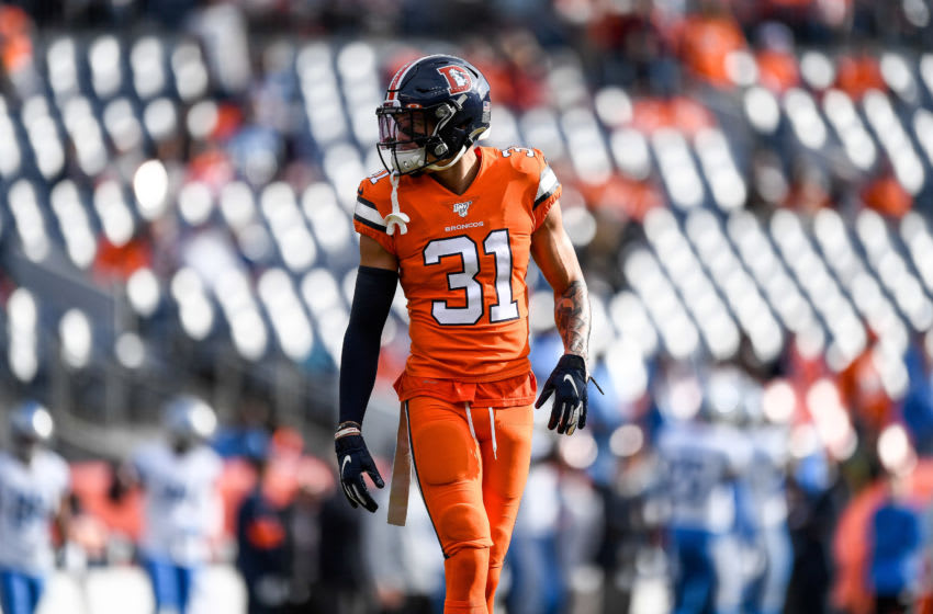 Denver Broncos safety #31 Justin Simmons. (Photo by Dustin Bradford/Getty Images)