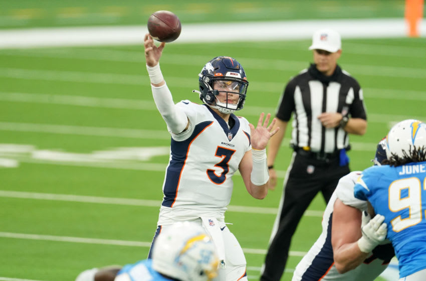 Denver Broncos, Drew Lock, 2021 NFL Draft. Mandatory Credit: Kirby Lee-USA TODAY Sports