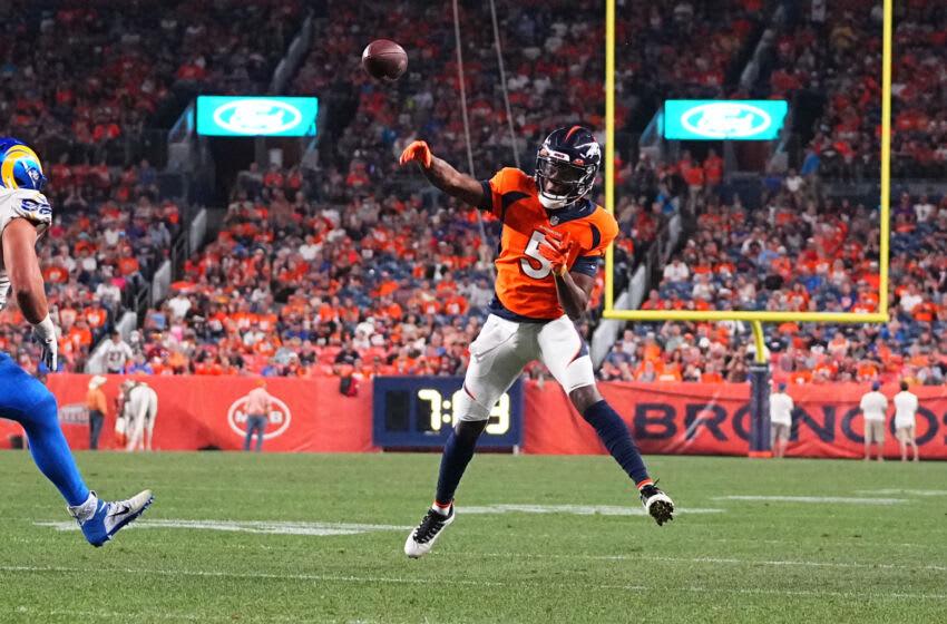 Denver Broncos quarterback Teddy Bridgewater. Mandatory Credit: Ron Chenoy-USA TODAY Sports
